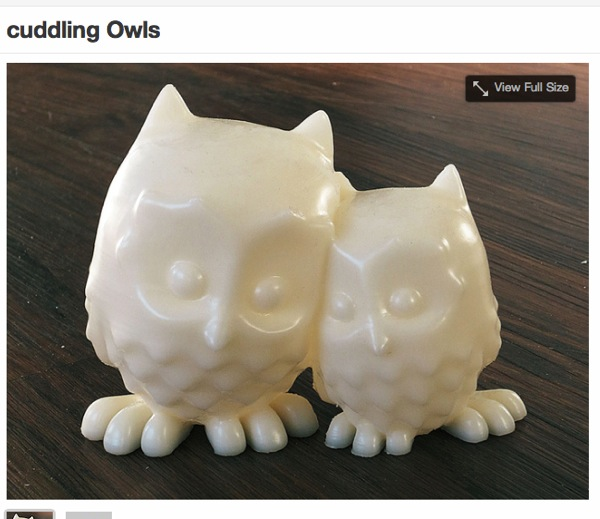 Cuddling Owls by mooses  Thingiverse
